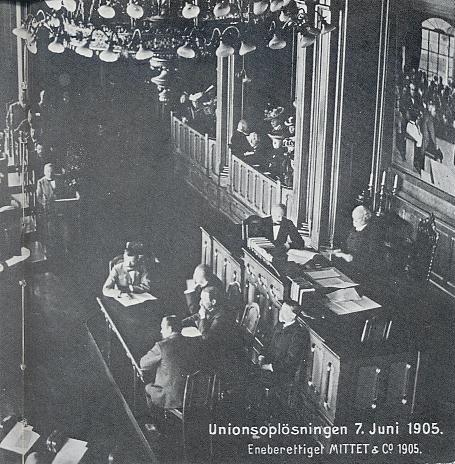 Unionsoppløsningen 7 juni. (1880-årene. Øystein Sørensen, side 25)
