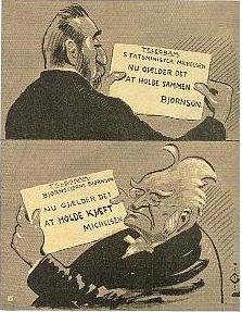 Bjørnson og Michelsen (Aschehougs Norske Leksikon, Bind 9, side 218)