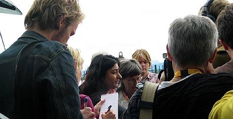 Etter talen i Molde 24.08.2005