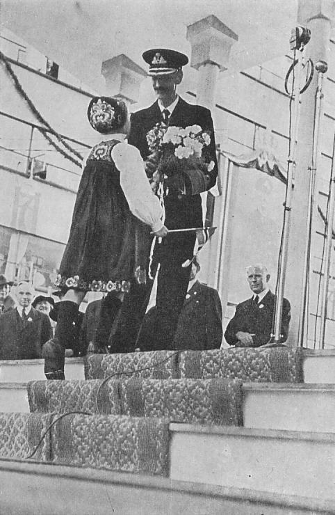 I Bergen sommeren 1945. (Kilde: W. P. Sommerfeldt: Hans Majestet Kong Haakon VII Taler 1905-1946 - et utvalg og en bibliografi. Oslo 1947)